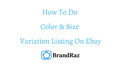 How To Do Ebay Color and Size Variations